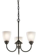 kichler 43637oz mini chandelier 3lt
