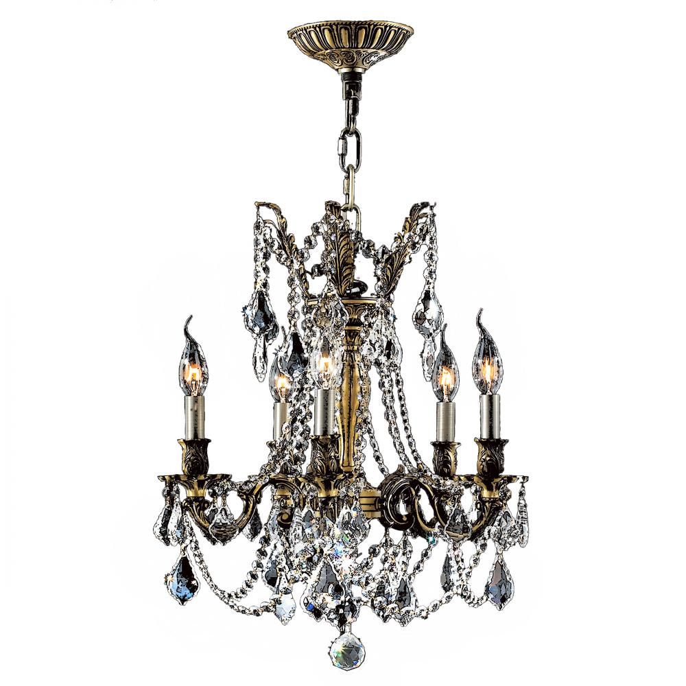 Windsor Collection 5 Light Antique Bronze Finish And Clear Crystal Chandelier 18 D X 19