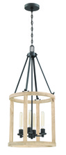 Craftmade 44034-CIDO - Astoria 4 Light Foyer in Cast Iron with Distressed Oak