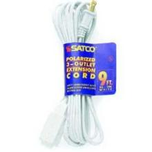 Satco Products Inc. 93/194 - Extension Cords 16/2 SPT-2 All extension cords rated at 13A 125V 1625 watts maximum and supplied wit