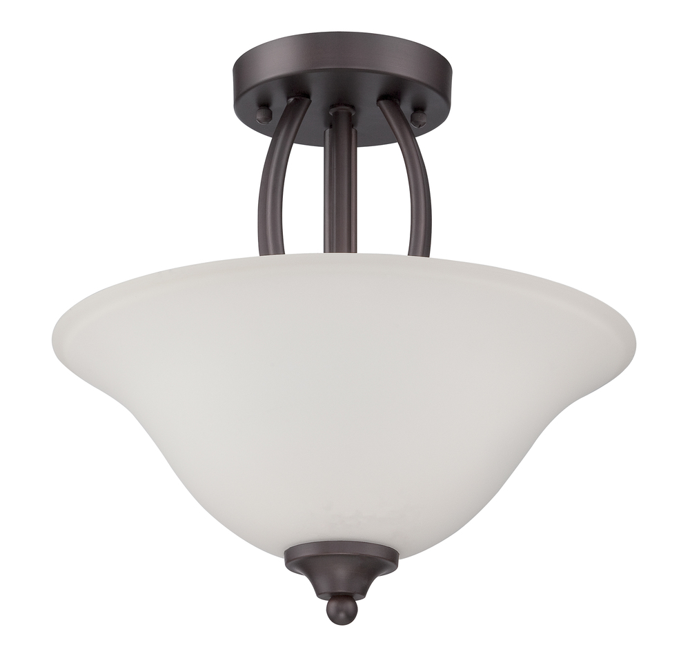 Northlake 2 Light Convertible Semi Flush/Pendant in Aged Bronze Brushed
