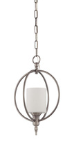Jeremiah 37231-AN - Meridian 1 Light Entry in Antique Nickel