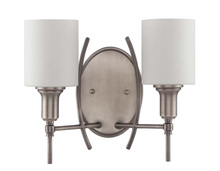 Jeremiah 37262-AN - Meridian 2 Light Wall Sconce in Antique Nickel