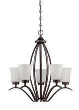 Jeremiah 38325-ABZ - Northlake 5 Light Chandelier in Aged Bronze Brushed