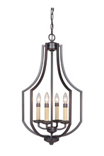 Jeremiah 40034-OBG - Hayden 4 Light Foyer in Oil Bronze Gilded