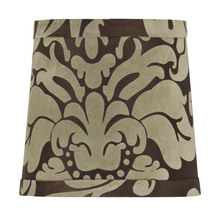 Jeremiah SH53-5 - Design & Combine Clip Shade in Brown Damask