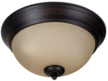 "Jeremiah XP11ABZ-2A - Pro Builder 2 Light 11"" Flushmount in Aged Bronze Brushed"