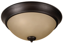 "Jeremiah XP15ABZ-3A - Pro Builder 3 Light 15"" Flushmount in Aged Bronze Brushed"