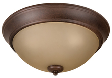 "Jeremiah XP15AG-3A - Pro Builder 3 Light 15"" Flushmount in Aged Bronze Textured"