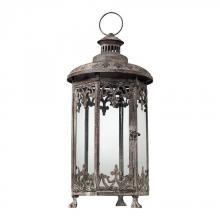 Sterling Industries 128-1031 - Hurricane Lantern In Distressed Finish - Hexagonal
