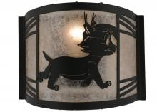 "Meyda Tiffany 157297 - 12""W Lynx On The Loose Right Wall Sconce"