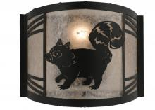 "Meyda Tiffany 157300 - 12""W Raccoon On The Loose Left Wall Sconce"