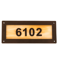 "Meyda Tiffany 195165 - 9.5"" Wide Personalized Number Plate"