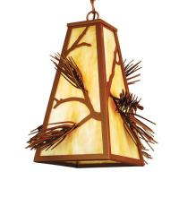 "Meyda Tiffany 67717 - 9""Sq Lone Pine Mini Pendant"
