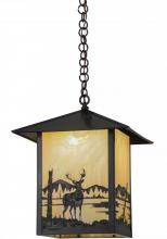 "Meyda Tiffany 96327 - 16""Sq Seneca Deer Creek Pendant"